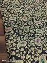 44 Inch Black Brocade Rajwadi Fabric