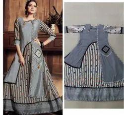 Cotton Party Wear Anarkali Dress