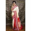 Kanjivaram Silk Saree in Cream and Red