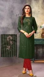 Viscose Embroidered Kurti