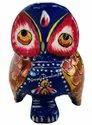 Metal Owl Meena Kari Work