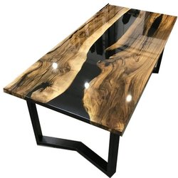 Epoxy Wooden Custom Center Table