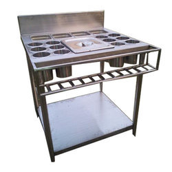 Stainless steel SS Masala Trolly, Size/Dimension: 24