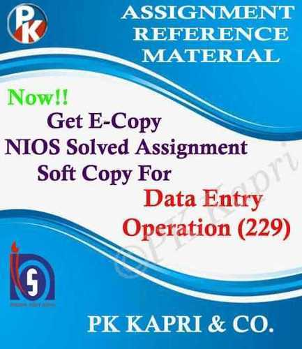 10th Online Nios Solved Assignment Data Entry Operation 229