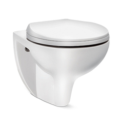 Hindware Ceramic Mario Rimless Wall Mounted Closet, for Bathroom Fitting, 50 X 36 X 36 Cm