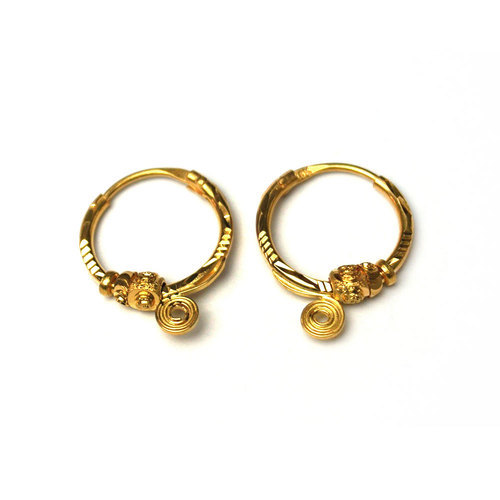 Small Bali Earrings View Specifications Details Of Gold Earrings