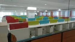 Back Painted laminated Glass for office table partition