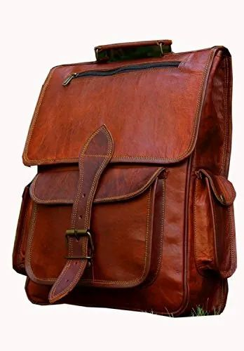 b65edf82c Unisex Brown Leather College Bag, Size: 12x16 Inch, Rs 1500 /piece ...