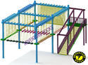 Single Layer 6 Pole Rope Course