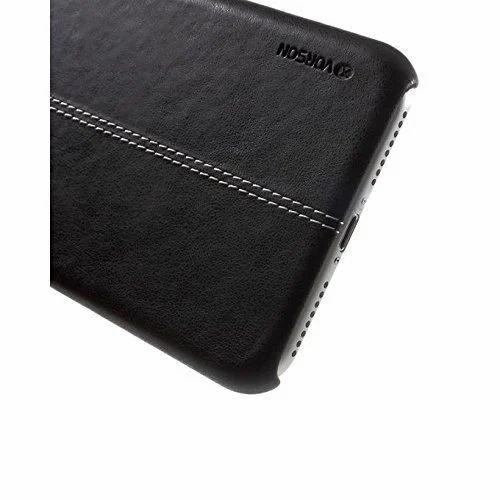 super popular cc86c a3e8e Vorson Lexza Series Double Stitch Leather Shell Cover For Apple iPhone