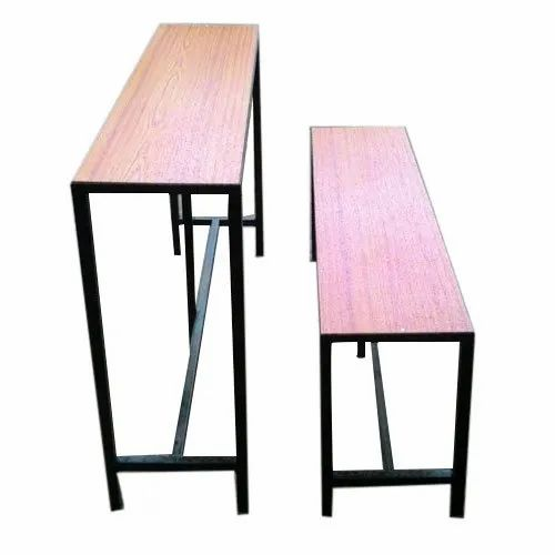 Mild Steel and Wooden School Desk And Bench, For Schools