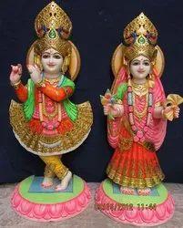 Golden Crown Radhe Krishna Statues