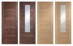 Wood Printed Metal Laminate Door