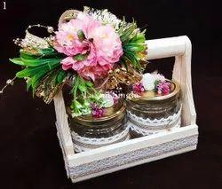 Floral Decorated Basket