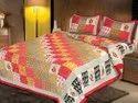 Zig Zag Print Cotton Double Bed Sheet