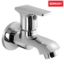 Stainless Steel Modern Somany Olive Bib Cock With Wall Flange