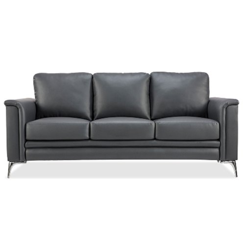 Grey-black 460 Durian Clark Three Seater Leatherette Office Sofa