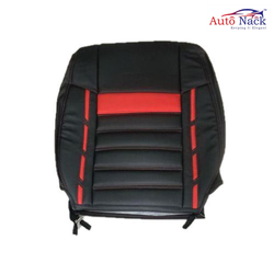 Nappa Leather Red And Black Wagon R Double Car Seat Cover