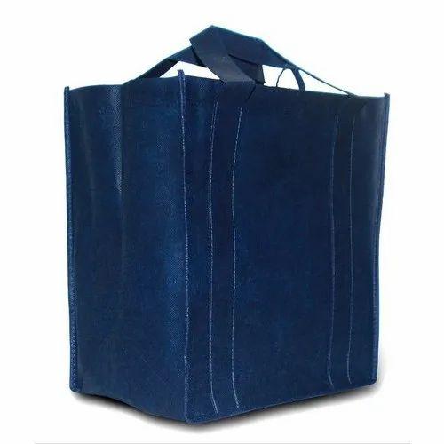 Blue Polypropylene Shopping Bulk Bag, Shape: Rectangular