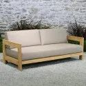 2 Seater Wooden Sofa