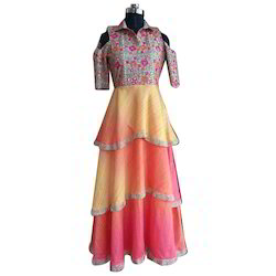Multicolor Western Wear Ladies Western Dress