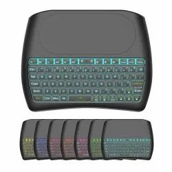 Speed D8 Mini Wireless Keyboard with Touchpad Mouse, 2.4Ghz Backlit Handle Rechargeable Keyboard