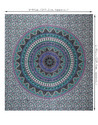 Purple Mandala Kerala Printed Floral Home Decor Hanging Wall Tapestry