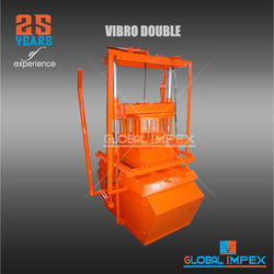 Single Vibrating Compressed Brick Machine