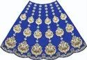 Blue & Golden Icon India Hand Embroidered Lehenga, Tafeta