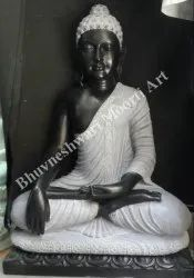 Black & Gray Stone Buddha Sculpture