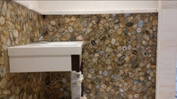 Natural Mix Agate Vanity Counter Walls