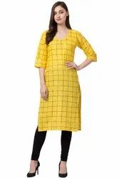 VFLK-45 Daily Wear Cotton Printed Kurti