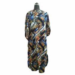 Ladies Full Sleeve Printed Woolen Gown