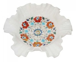 Marble Inlay Bowl of Flower Shape