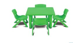 Plastic Green KPS 113 Square Table, Size: 24 X 24 X 20 Inch