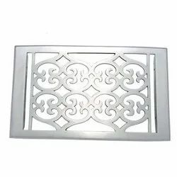 Flower Brass Wall Register with Louver - 6inch x 10inch (7-1/4inch x 11-1/2inch Overall)