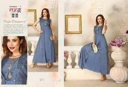Lavaniya Vol 2-Rung All Different Heavy Fabric Designer Gown Type Kurtis