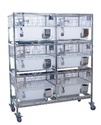 Polypropylene Rabbit Cages with Trolley (In-built Type)