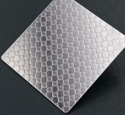 Linen Silver Embossed Stainless Steel Sheet