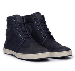 Navy Blue Coated Canvas Rlcshoh00009 Cooper Sneakers