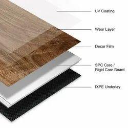 german stone plastic composit spc flooring, Thickness: 3.2mm, Size: 7