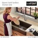 Lucent Brown Quartz Sink, Shape: Rectangular, Thickness: 15-20 Mm