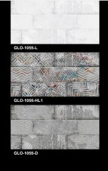 GLO 1055 Bathroom Wall Tiles, Thickness: 5-10 mm