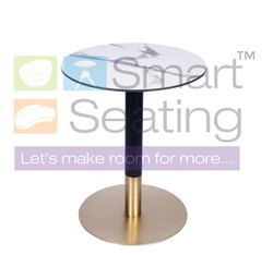 Cafe Table - Gold Table Base