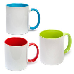 Inside Colour Mug with Coloured Handle