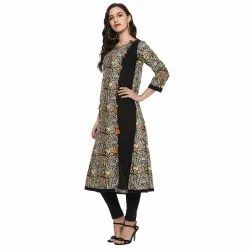 Yash Gallery Women's Cotton Kalamkari Anarkali Kurta