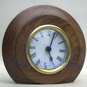 Half round shape table top Wooden Clock