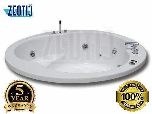 Round Oval Hydromassage Whirlpool Jacuzzi Massage Bathtub