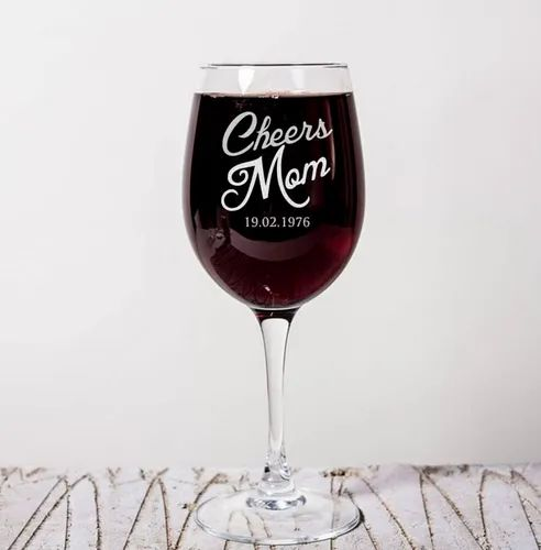Cheers Mom Dad Wine Glasses Personalized