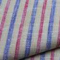 Linen Yarn Dyed Stripe Fabric